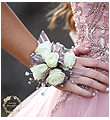 White Mini Rose Wrist Corsage