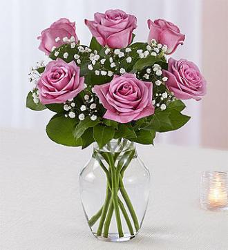 6 Purple Rose Vase