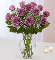 Purple Rose Vase