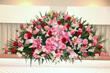 Pink & Red Casket Spray