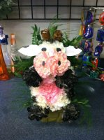 Carnation Cow Arrangement