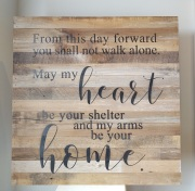 Reclaimed Wooden Heart and Home