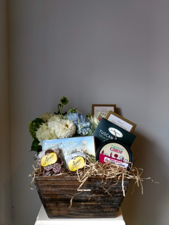 Flowers and Gourmet Basket