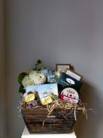 Flowers and Gourmet Basket