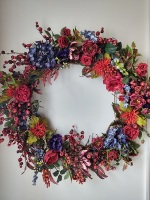 Navy and Red Wreath