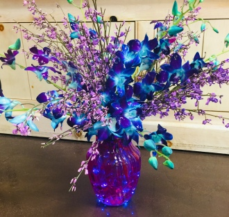 Blueberry Orchid Bouquet