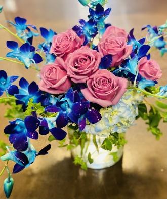 Colonials Orchid & Lavendar Bouquet