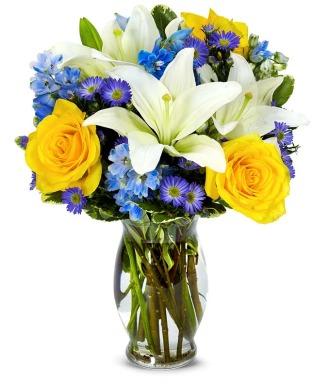 Bright Blue Skies Bouquet