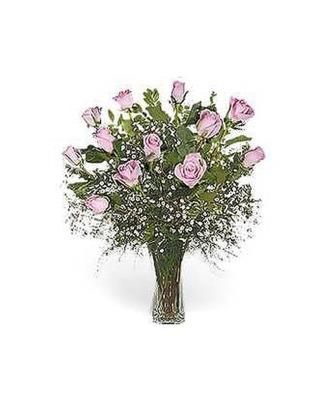 Stein Dozen Pink Roses