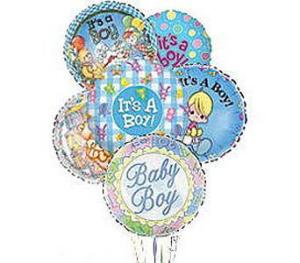 Stein Mylar Balloon Bouquet – Baby Boy