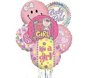 Stein Mylar Balloon Bouquet – Baby Girl