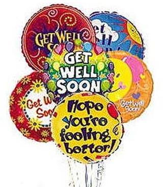 Stein Get Well Mylar Balloon Bouquet