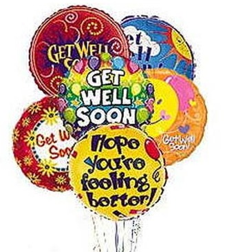 Stein Get Well Mylar Balloon Bouquet