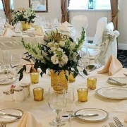 Gold Vase Centerpiece