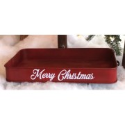 Red Merry Christmas Wagon Tray