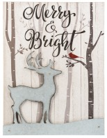 Merry and Bright Reindeer Plaque