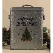 Galvanized Christmas Canister