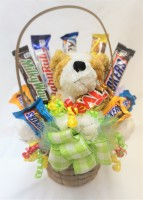 Chocolates and Snuggles Candy Bouquet