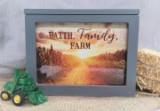 Faith, Family, Farm...Lighted Box