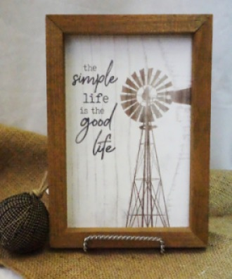 The Simple life is the Good Life Print