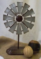 Small Galvanized Windmill