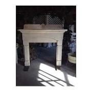 Fireplace Vintage Whitewashed Freestanding
