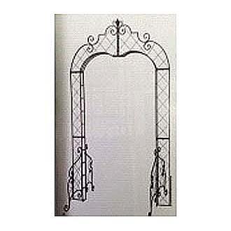 Black Antique Iron Scroll Arch
