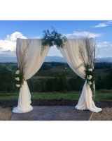 Ivory Draped Archway With Fresh