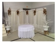 White Latice Fiberglass Windowed Backdrop