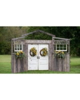 Barnwood Backdroop/Arch With Sides