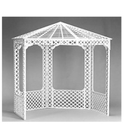 White Gazebo with Roof