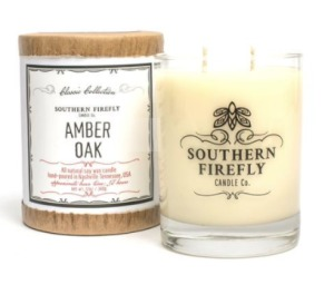 Southern Firefly Amber Oak 14 oz Glass Candle