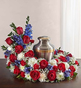 Red, White & Blue Cremation Wreath