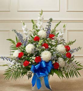 Red, White & Blue Sympathy Basket