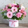 Dashing Beauty Hat Box Bouquet