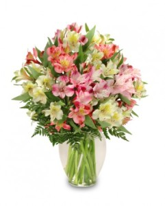 Pastel Peruvian Lily Bouquet