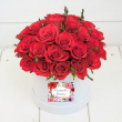 Rose Perfection Hat Box Bouquet