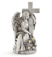 Angel with Cross LED