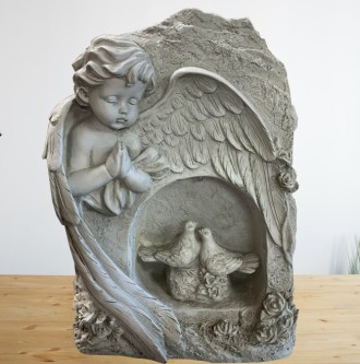 Praying angel and Doves