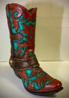 RedBrown & Blue Boot