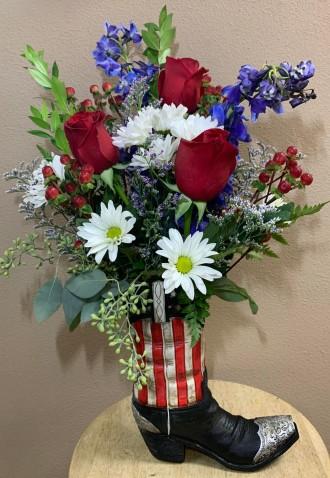American Boot Flowers