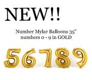 Golden Mylar Balloons