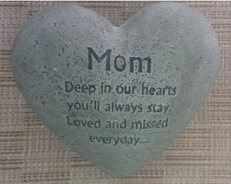 C3 -Mother\'s Day Cement Heart Memorial