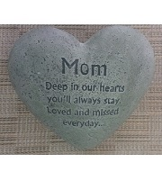 C3 -Mother's Day Cement Heart Memorial