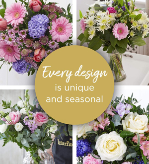 Florist Choice With Vase - Pastels Deluxe