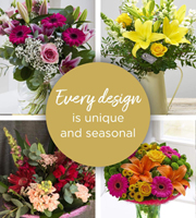 Florist Choice with Vase - Brights
