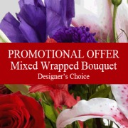 Designer's Choice Wrapped Bouquet