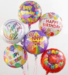 Six Happy Birthday Mylars