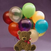 Twelve Latex Balloons and a Teddy Bear