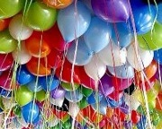 50 Latex Balloons in Assorted Colors
